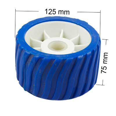 26mm Hole|Wobble Roller|125 x 75mm|BLUE