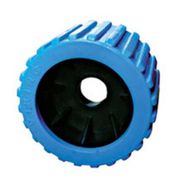 Blue Ribbed Wobble Roller 20mm bore|Diameter = 100mm Width = 75mm