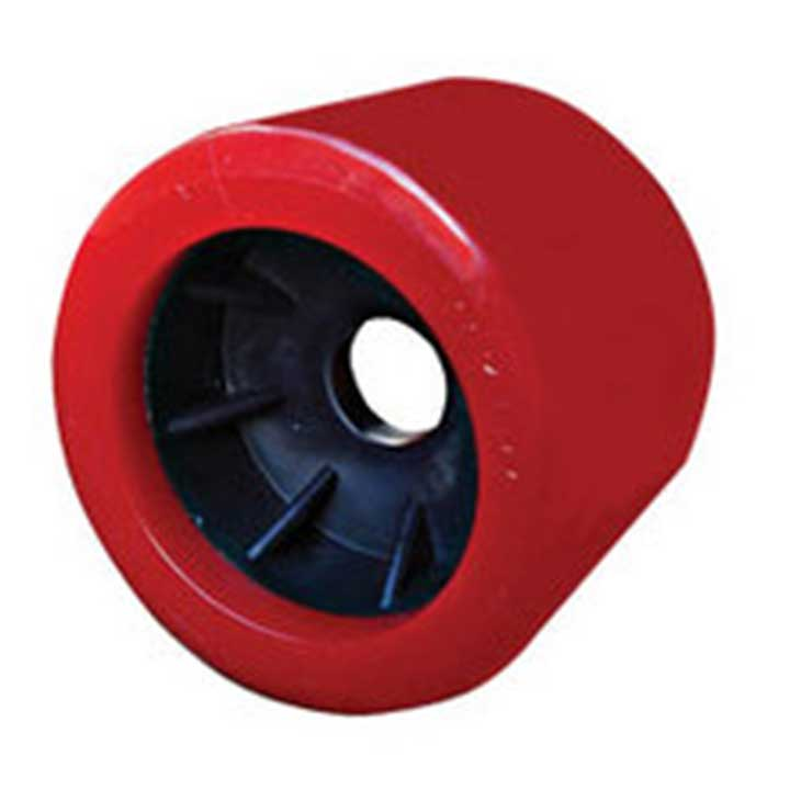 Red Smooth Wobble Roller 20mm bore|Diameter = 100mm Width = 88mm