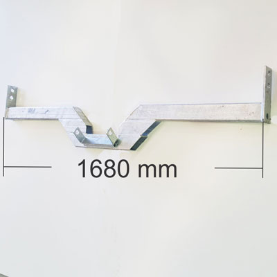 1680mm Rear cross member - Bolt On